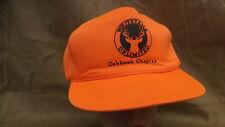 Vtg Whitetails Unlimited Oshkosh Wisconsin Blaze Orange Hunting Snapback Hat