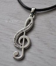 'Music Is What Feelings Sound Like' Pendant Necklace Ladies Girls Gift Musician