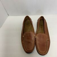 Dockers Mens Loafers Brown Leather Slip On Stitched Moc Toe Casual Shoes 11 M