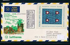 95770) LH FF München - Paraguay 13.5.71, SoU ab Schweiz, Block