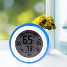LCD Display Indoor Thermometer Hygrometer Round Humidity Meter Weather Station