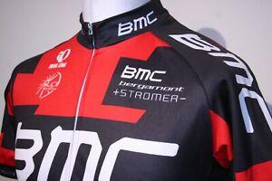 BMC - Bergamont - Stromer - Full Zipper Cycling Jersey Shirt - L - Red/Black Top