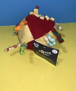 """ZOWIE BALL SO FAB TOYS 5"""" Rattle Chime Activity Baby Toy Plush w/ Tag"""