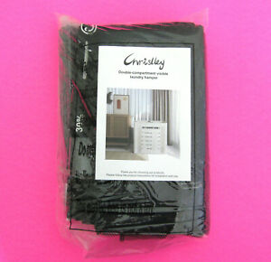 New CHRISLLEY Double Laundry Hamper Black Visible College Dorm or Home