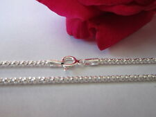 Sterling Silver Chain round diamond cut style chain necklace 20 inches 2mm