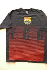 FC BARCELONA #10 MESSI 100% PRESHRUNK COTTON NAVY BLUE OFFICIAL T-SHIRT  sz L