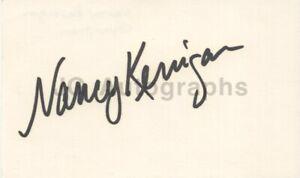 Nancy Kerrigan - Olympic Figure Skater - Signed 3x5 Index Card