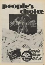 People's Choice Trade Press Advert 1975/6