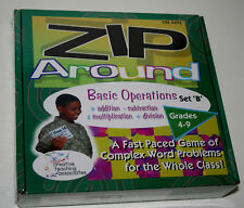 Zip Around Math Learning Classroom Card Game Basic Operations B New Box 2003 NOS