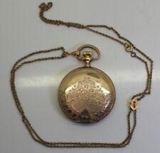 1898 Elgin National Watch Co 7J USA Embossed Pocket Watch W/ Original Paper!