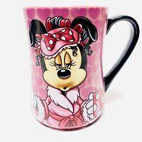 Disney Parks MINNIE MOUSE 18oz Coffee Mug - MORNINGS AREN'T PRETTY - Ceramic