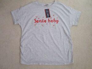 'TU - MATERNITY' LADIES 'SANTA BABY' T-SHIRT, SIZE 14,BNWT !