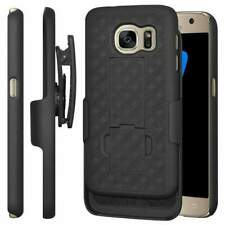 Samsung Galaxy S7 Shell Holster Combo Case with Clipstand & Belt Clip