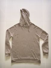 Forever 21 Mens Distressed Hoody! Size M! Colour Taupe