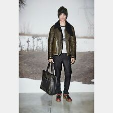 Brand New Coach Green Suede and Leather Shearling Leather Jacket Coat $1995