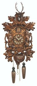 German Black Forest Quartz Cuckoo Clock Hunting Clock