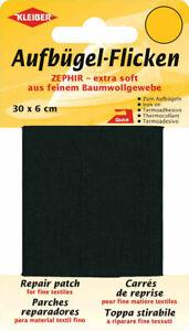 Kleiber Aufbügel-Flicken 30 x 6cm 100% Baumwolle 15 Farben