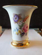 Meissen Vase, Trichtervase, 1.Wahl, Knaufzeit, wunderschön, großer Goldrand, TOP