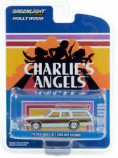 GREENLIGHT CHARLIE'S ANGELS 1:64 BLUE 1979 FORD LTD COUNTRY SQUIRE MODEL 44890-E