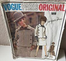 Vintage Vogue Paris Original Pattern Jacques Heim #1919 Jacket and Dress Size 14