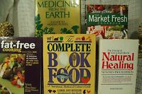 lot 5 books Natural Healing Medicines from the Earth Nutrition cookbook cooking