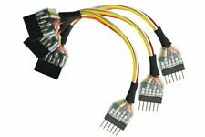 DCC Concepts - DCD-HZ66.3 - NEM651 6 Pin Plug to 6 Pin Socket Harness (3 Pack)