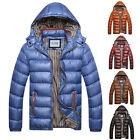 Stylish New Jacket Hooded Coat Mens Winter Padded Warm Casual Parka Overcoat