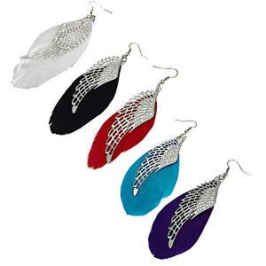 Different Colours Angel Wings & Feather Earrings. Drop Dangle Women Jewellery