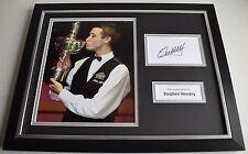 Stephen Hendry SIGNED FRAMED Photo Autograph 16x12 display Snooker AFTAL & COA