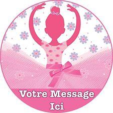 Danseuse Ballerine Decoration Gateau Disque Azyme Comestible Anniversaire