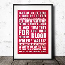 Galles TERRA DI MIO PADRE di rugby versi della canzone MANIFESTO INNO