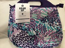 Pottery Barn Teen Gear Up Lunch Tote Bag Purple Pool Cheetah Animal Print Nwt