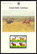 Angola Africa Giant Sable Antelope FOUR Maxi Postcards & FOUR FDC Covers FDI
