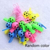 5Pcs Football Soccer Plastic Whistle Outdoor Emergency Supply Kid Toys Random
