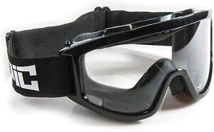 EPIC MX Kid Ski Goggles Black Frame/Clear Anti Fog Lens Snowboard Boys Girls NEW