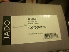 "JADO ILLUME 24"" TOWEL BAR POLISHED CHROME 020/600/100  New in Box"