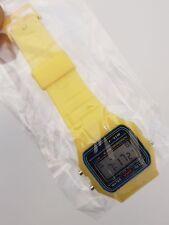 Replacement Casio F-91w Style Wrist Watch Retro Digital -yellow- UK Seller
