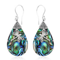 925 Silver Abalone Shell Dangal Drop Earrings Fashion Women Jewelry For Gift
