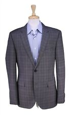 Hugo Boss Recent The James Gray/Brown/Blue Plaid 2-Btn Wool Sportcoat Blazer 42R