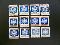 USA Lot of 12 Official Stamps from 1983-1989 Issues - See Description & Images