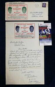 1955 Archie Moore Full Letter SIGNED vs Rocky Marciano Fight Ultra Rare JSA COA
