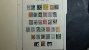 New South Wales stamp collection on Scott Int'l pages w/ est # 47 or so