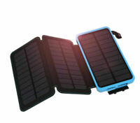 1000000mAh Three 3 Solar Panels Battery Charger Power Bank For Cell Phone