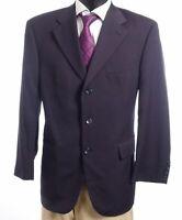 Pierre Cardin Sakko Jacket Gr.25 blau uni Einreiher 3-Knopf Super 100's -S251