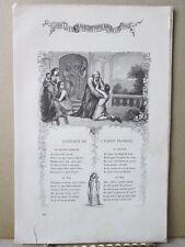 Vintage Print,CANTIQUE DE L;ENFANT PHODIGUQ,French Songs+Music,1859