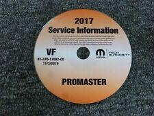 2017 Dodge Ram Promaster 1500 2500 3500 Cargo Van Shop Service Repair Manual CD