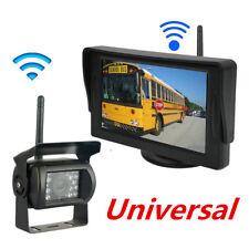 "Drahtlos Auto Bus Einparkhilfe Set Funk 4.3"" LCD Monitor + LED Rückfahrkamera"