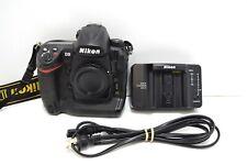 Nikon D3 12.1MP Digital SLR FX Full Frame Camera Body Black w/ Charger & Battery