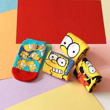 Newly Hot Women Cartoon Funny Cotton Socks Simpsons Family Novelty Sock Slippers