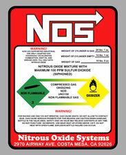STICKER NITROUS OXIDE NOS OXYDE DRIFT TURBO JDM AUTOCOLLANT 14,5X11cm NA043